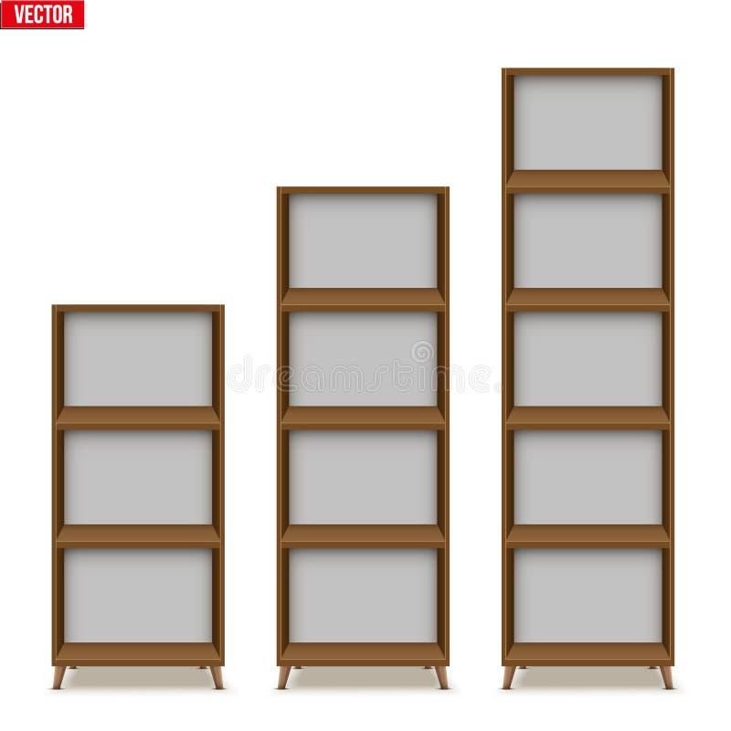 Scaffale vuoto con gli scaffali o lo scaffale per libri royalty illustrazione gratis