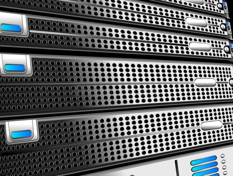 Scaffali del server illustrazione di stock