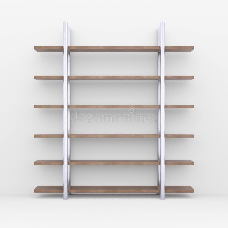 Scaffali di legno con i supporti del metallo immagini for Scaffali legno arredamento