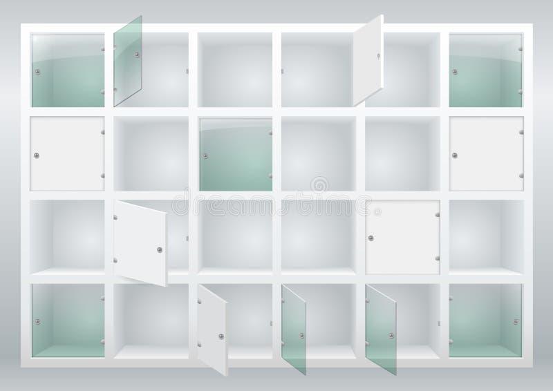 Scaffali e cassetti illustrazione di stock