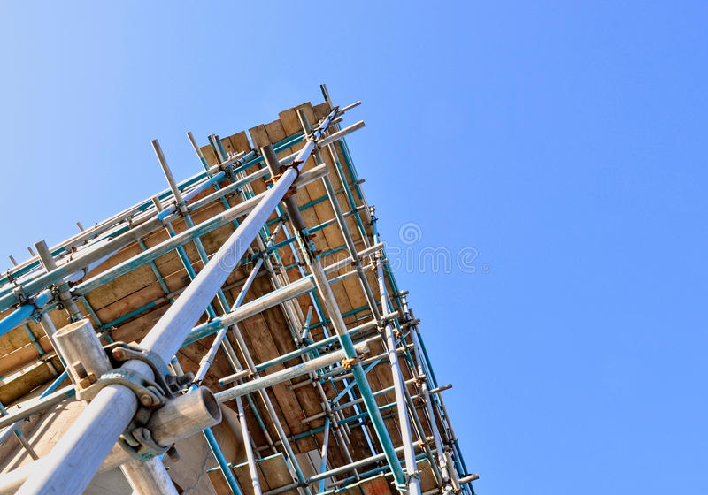 Scaffold tower royalty free stock images