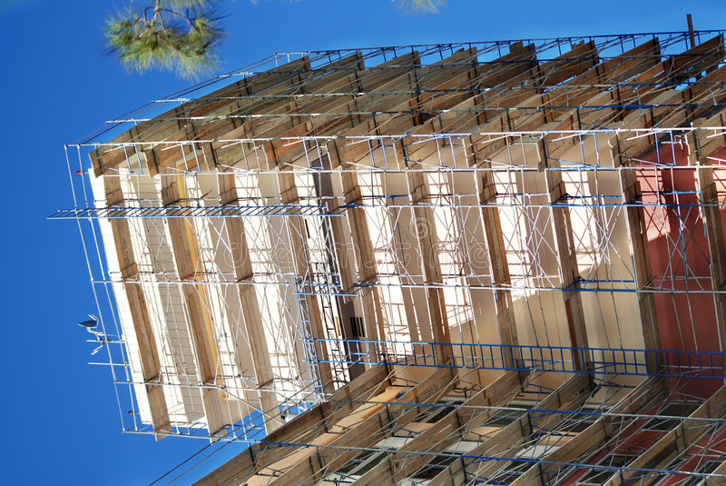 SCAFFOLDed royalty free stock image