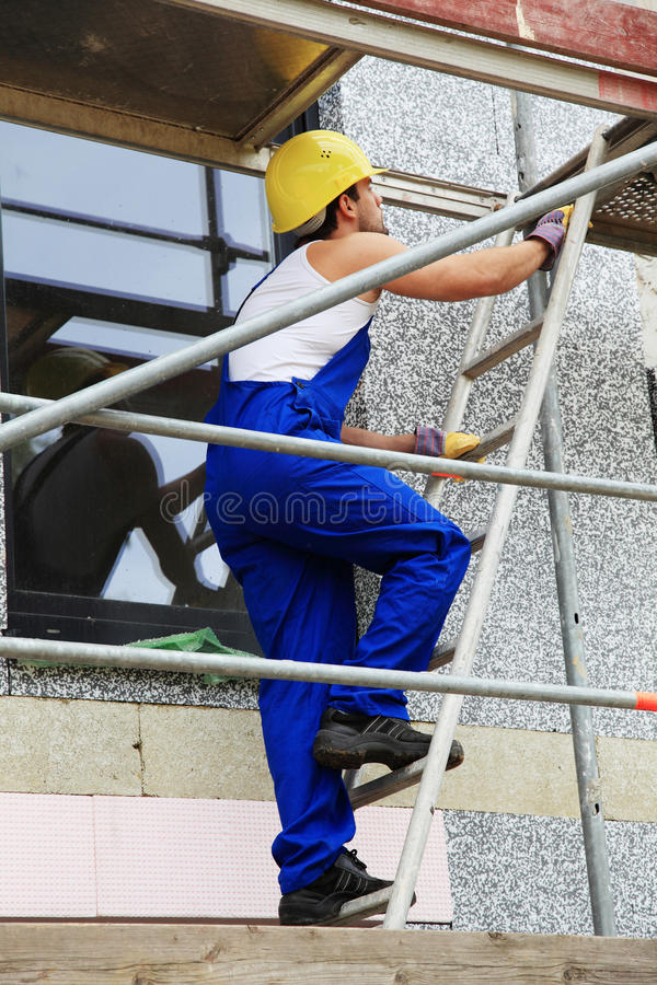 Download Scaffolder stock image. Image of caucasian, ladder, worker - 19923947