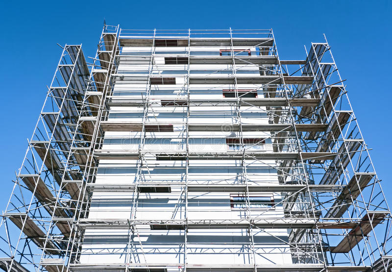 Download Scaffolding stock photo. Image of part, gray, brown, facade - 28740494