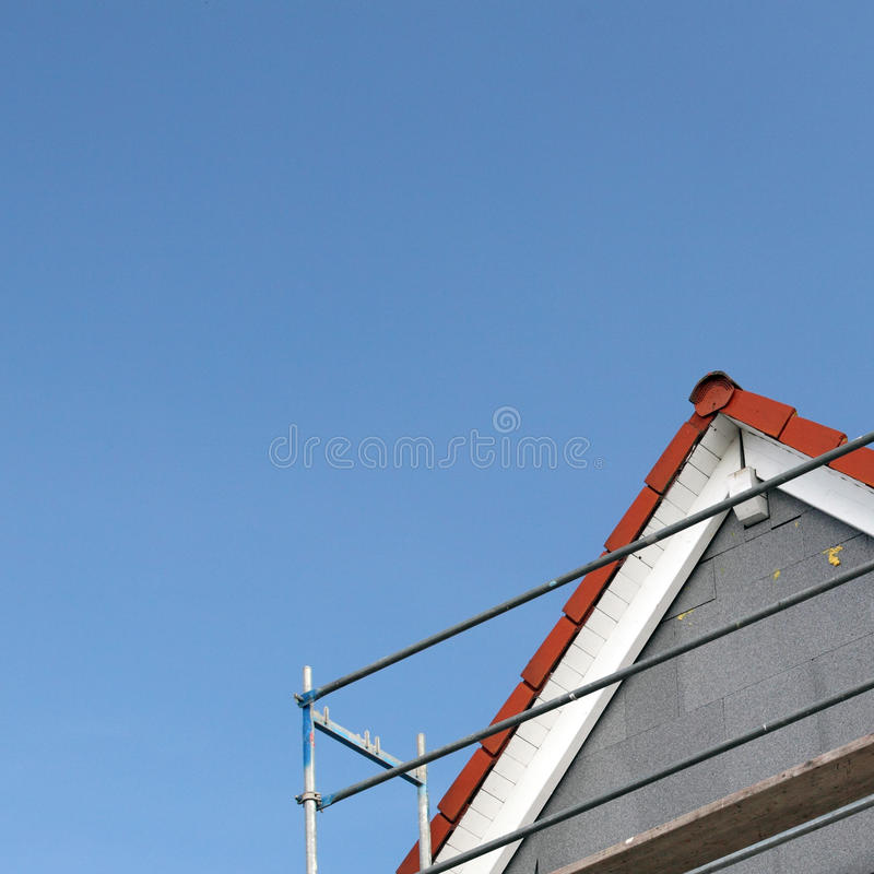 Free Scaffolding Around Roof Royalty Free Stock Photo - 12770845
