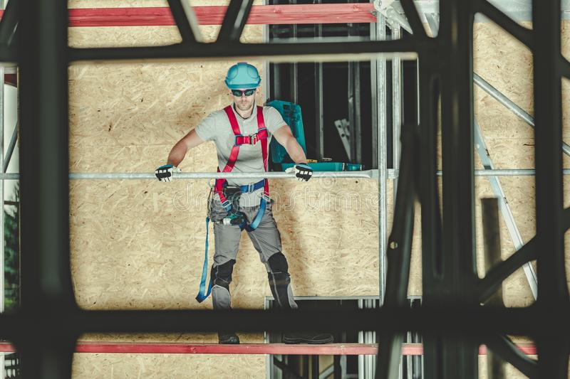 Scaffolding Safety Worker stock images