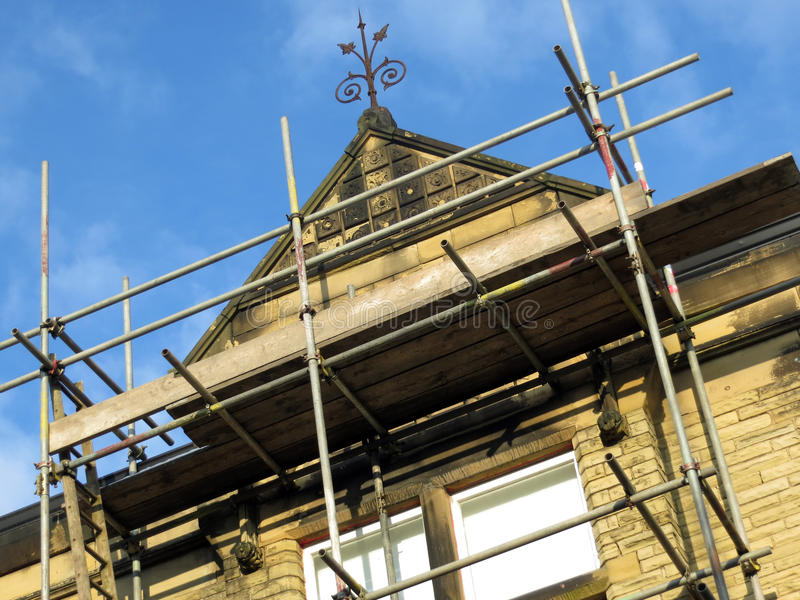 Download Scaffolding On Stone Building Stock Image - Image: 28803757
