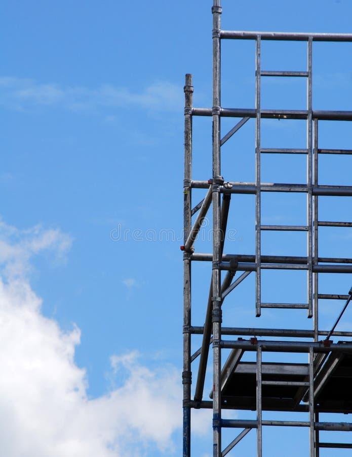 Scaffolding tower stock photo