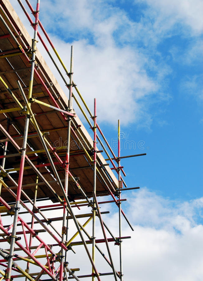 Scaffolding tower royalty free stock photography