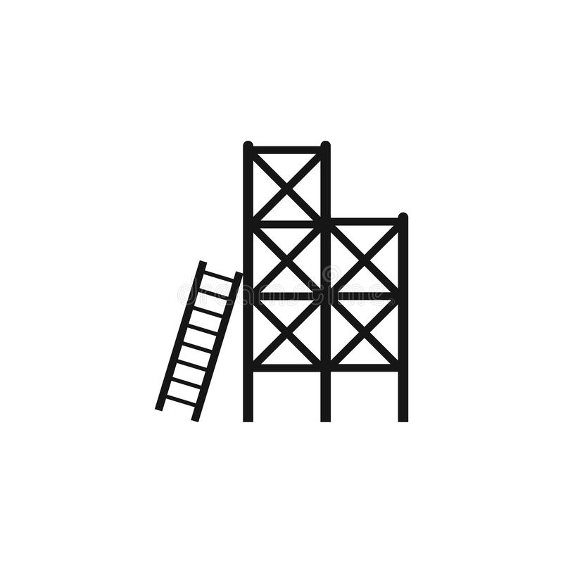 Free Scaffolding Vector Icon Isolated On Transparent Background, Scaffolding Logo Concept. Ladder, Scaffold, Stairs, Steps Stock Photo - 137775210