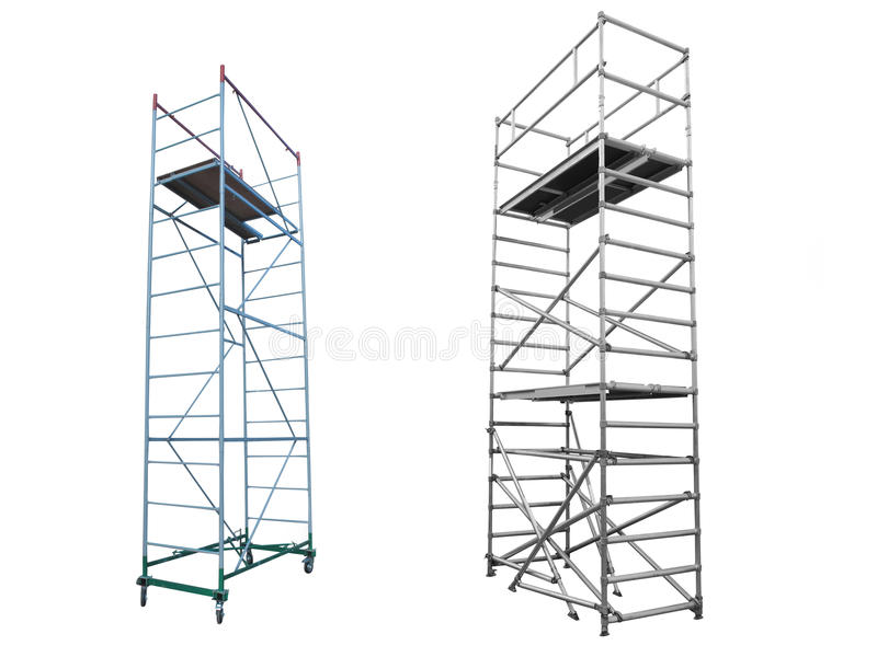 Scaffolds and lift stock image
