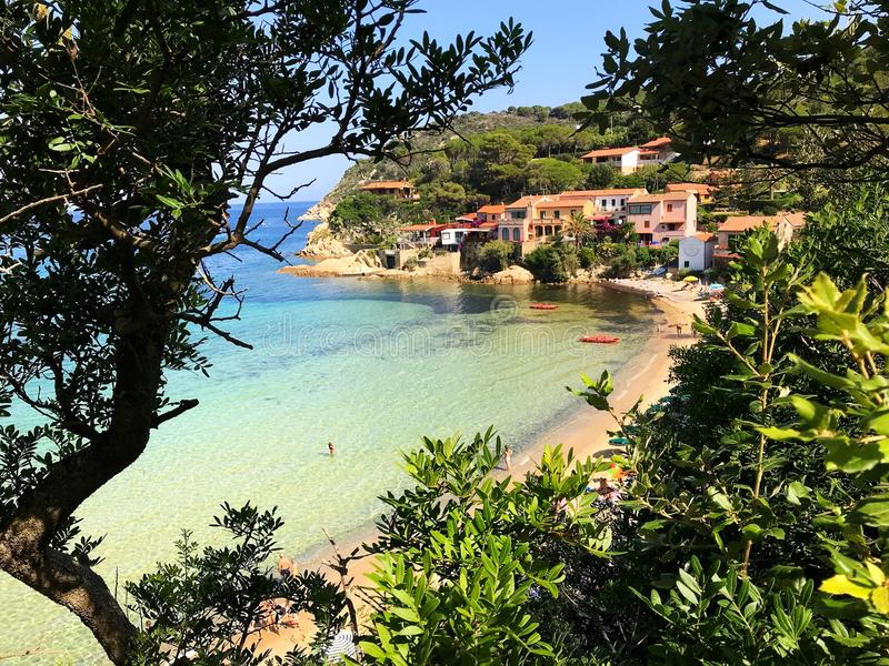 Scaglieri beach in summertime stock images