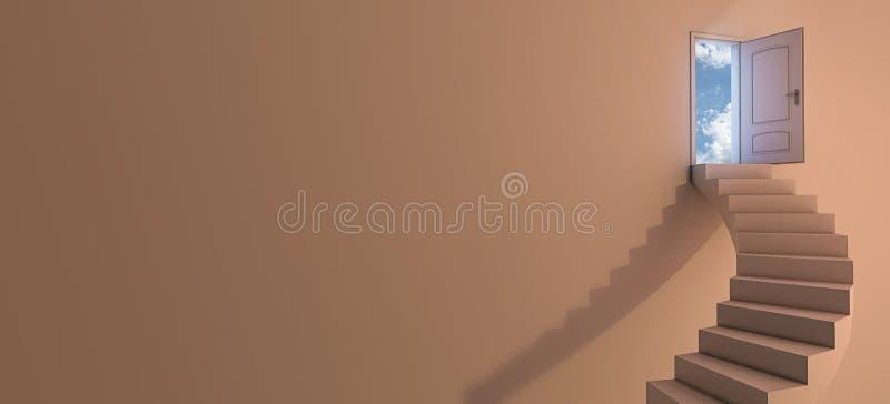 Scala al cielo illustrazione vettoriale