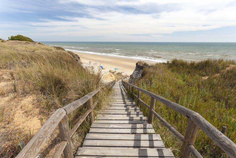 Scala alla spiaggia immagini stock libere da diritti
