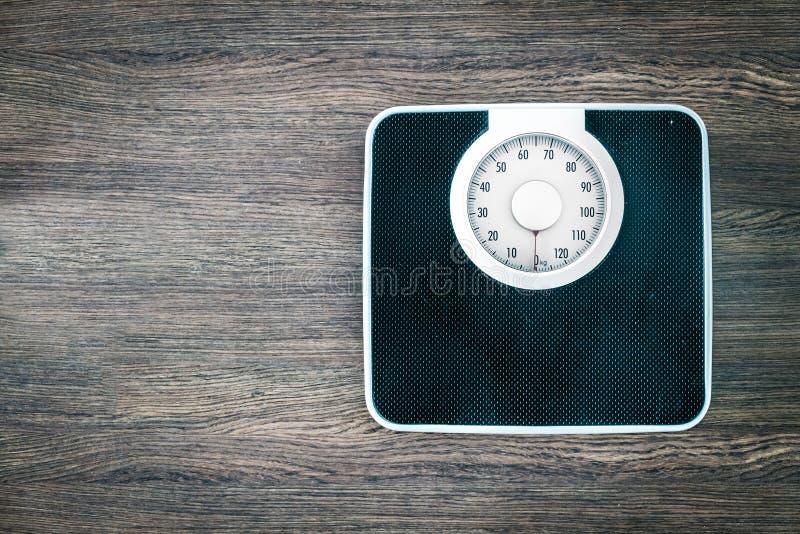 Scala Analog del peso fotografia stock