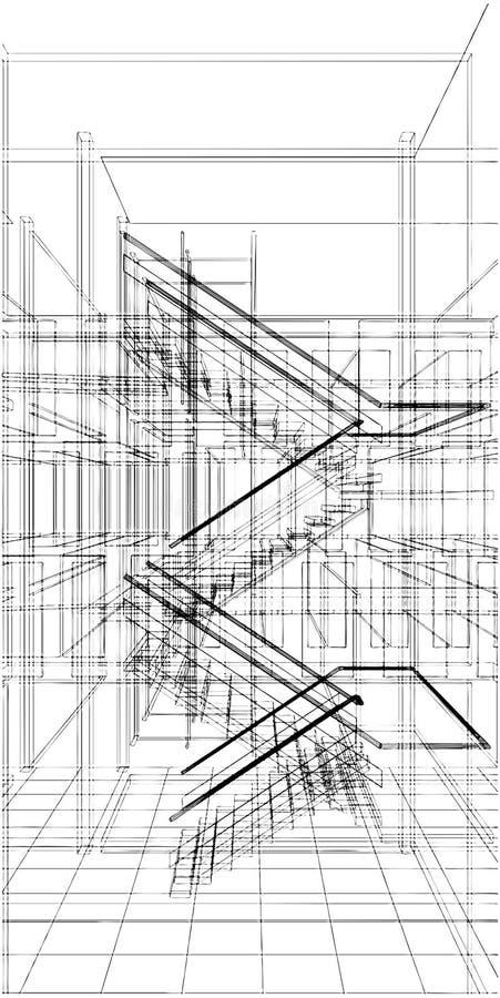 Scala astratta della costruzione della riga vettore illustrazione vettoriale