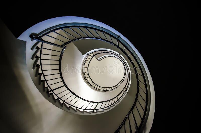 Scala a chiocciola di Fibonacci fotografia stock libera da diritti