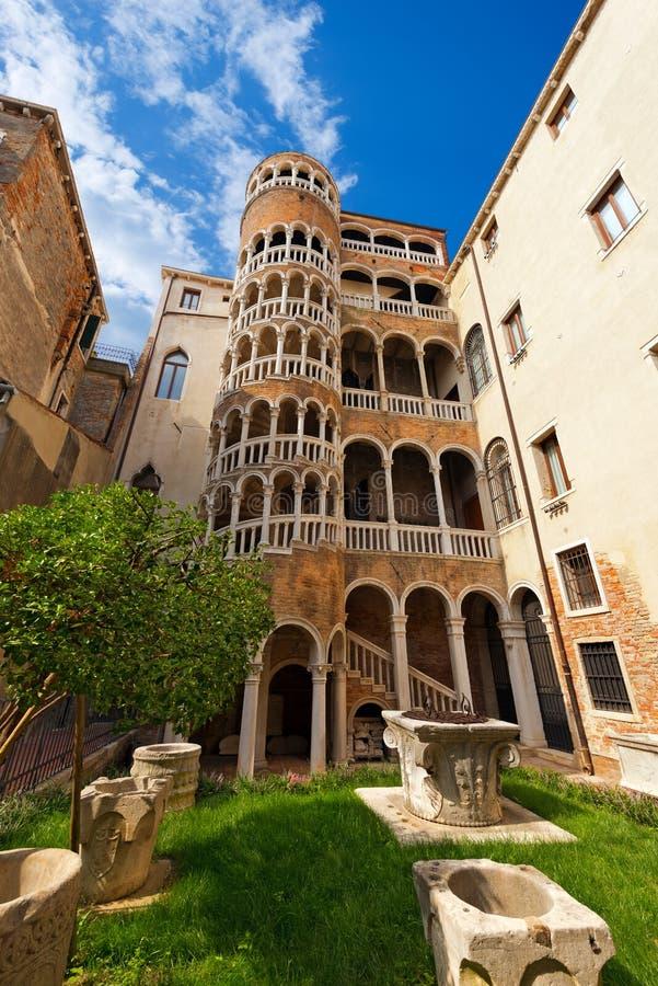 Scala Contarini del Bovolo - Venezia Ιταλία στοκ εικόνα με δικαίωμα ελεύθερης χρήσης