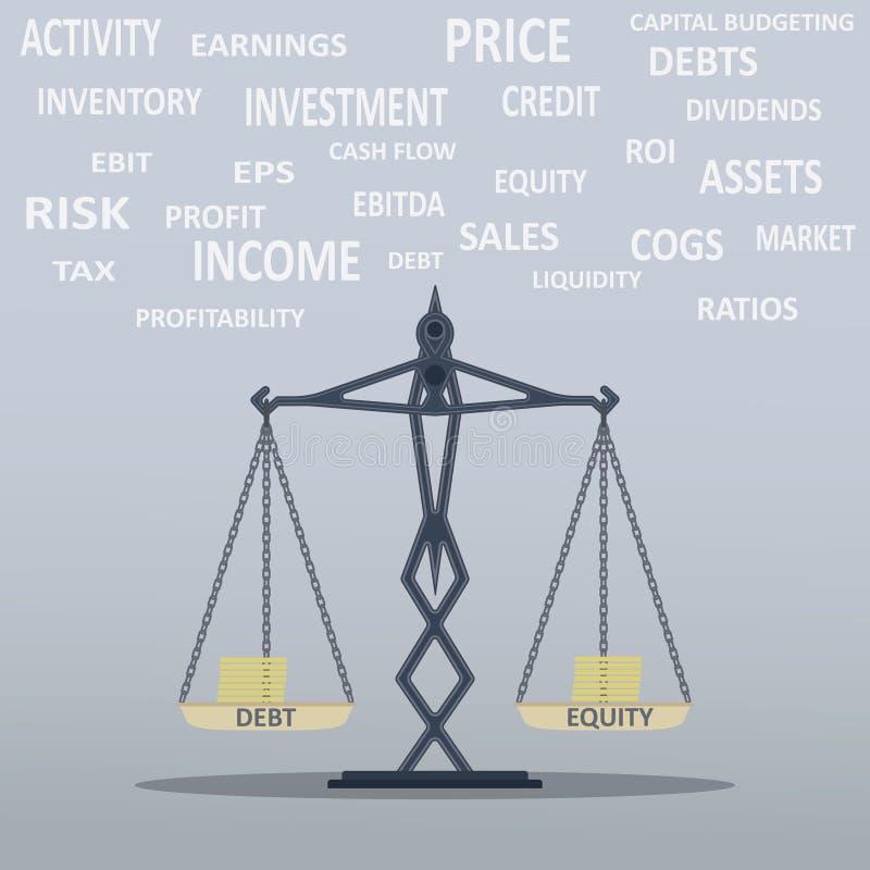 Scala dell'equilibrio illustrazione di stock