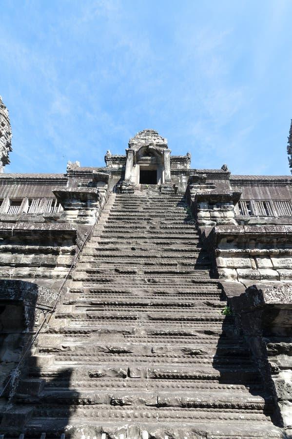 Scala di Angkor Wat su fotografie stock libere da diritti