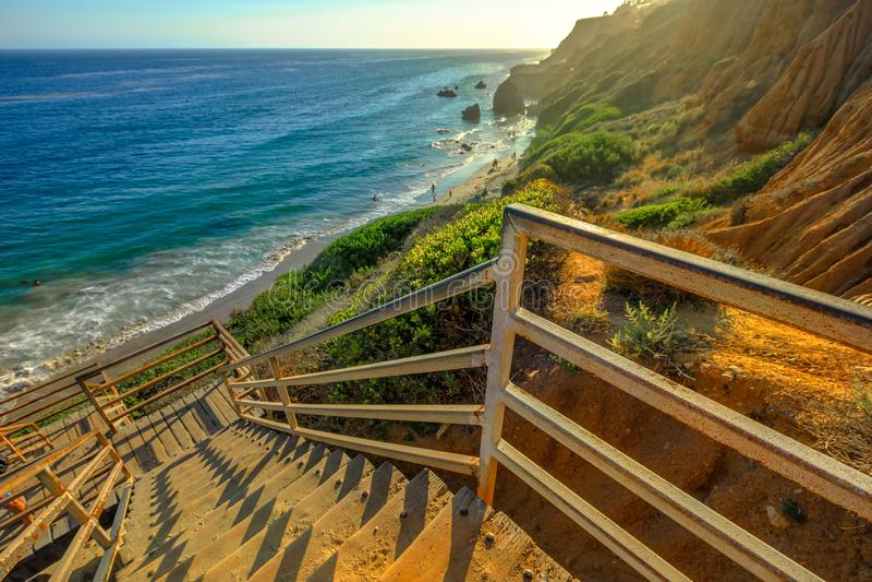 Scala di EL Matador Beach fotografie stock libere da diritti