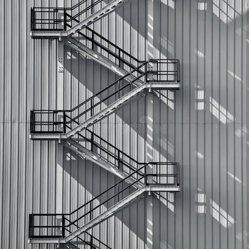 Scala di esterno di industriale fotografia stock