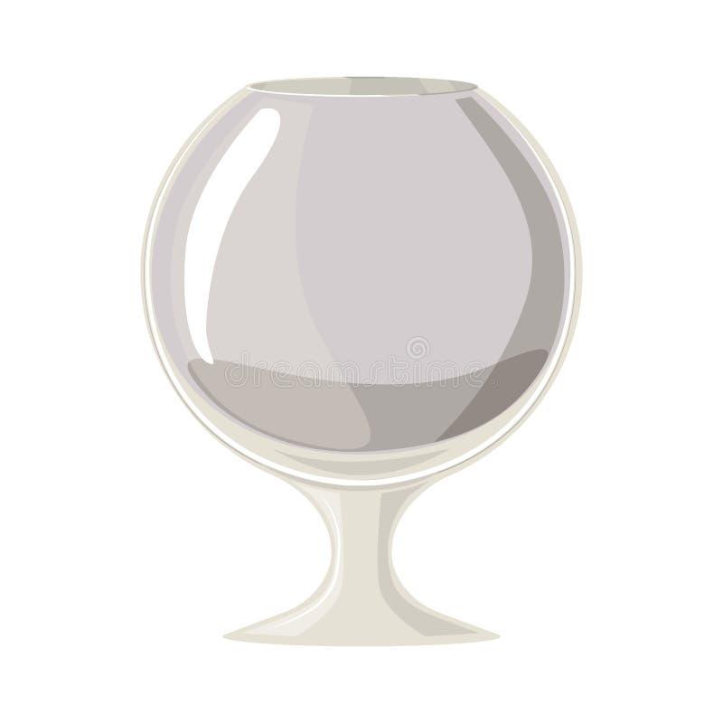 Scala di grigi della siluetta con il vetro di vino royalty illustrazione gratis