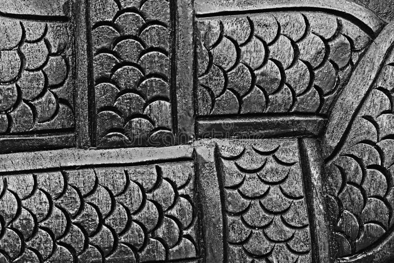Scala di legno del Naga per il modello ed il fondo fotografia stock