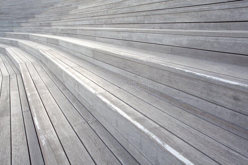 Scala di legno della plancia immagini stock libere da diritti