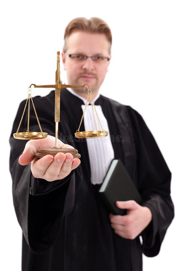 Scala di rappresentazione del giudice di giustizia immagine stock