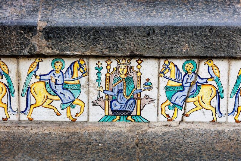 Scala di Santa Maria del Monte fotografie stock