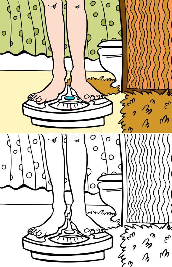 Scala di stanza da bagno royalty illustrazione gratis
