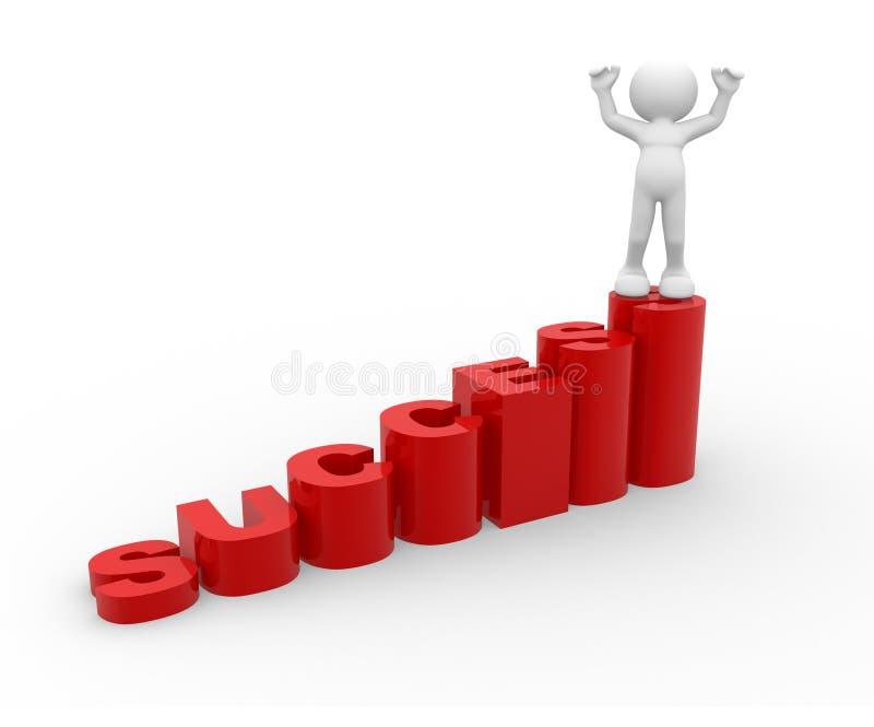 Scala di successo illustrazione di stock