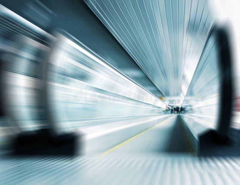 Scala mobile della metropolitana di movimento fotografie stock libere da diritti
