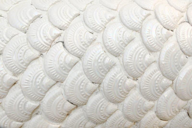 scala piastrellata ceramica del naga del whhite per il modello ed il fondo immagine stock
