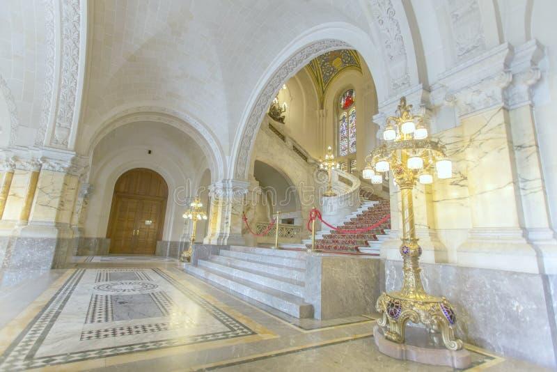 Scala principale del corridoio del Palazzo della Pace fotografia stock