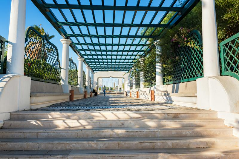 Scala principali in Kalithea Rodi, Grecia immagini stock libere da diritti