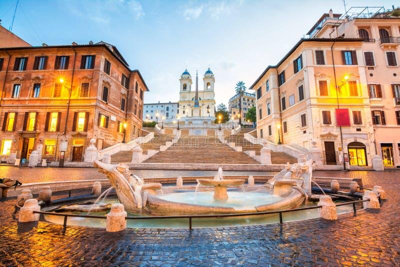 Scala spagnola a Roma, Italia fotografia stock libera da diritti