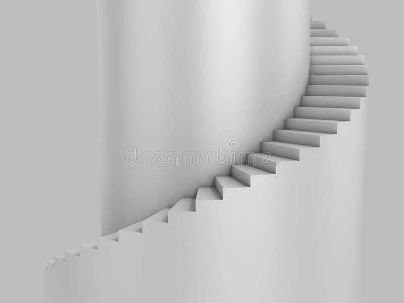 Scala a spirale illustrazione di stock