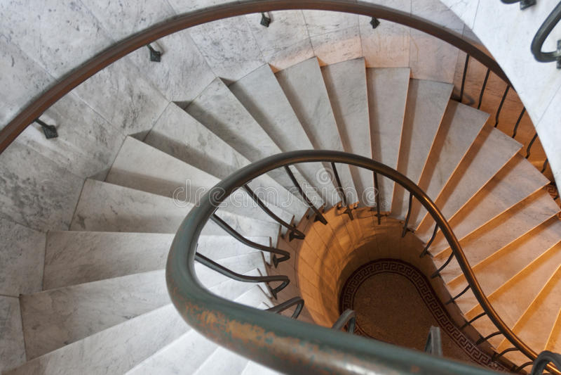 Scala a spirale. immagini stock