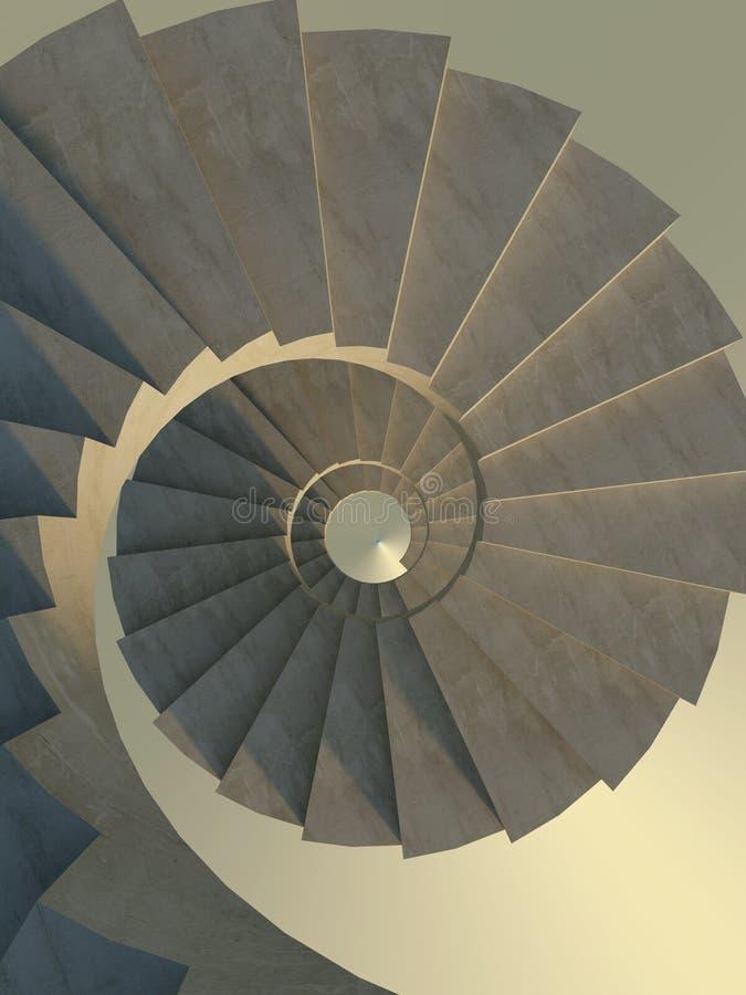 Scala a spirale astratta illustrazione di stock