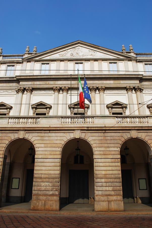 Scala theater, Milan royalty free stock images