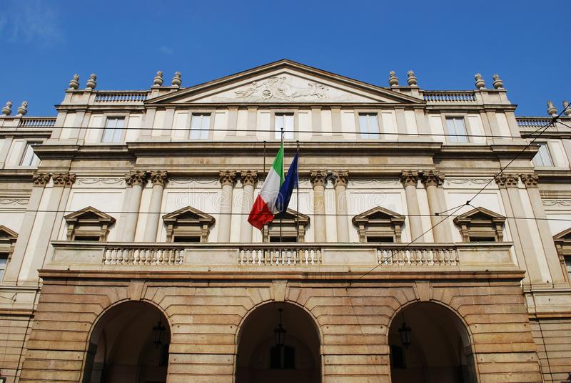 Scala theater, Milan stock images
