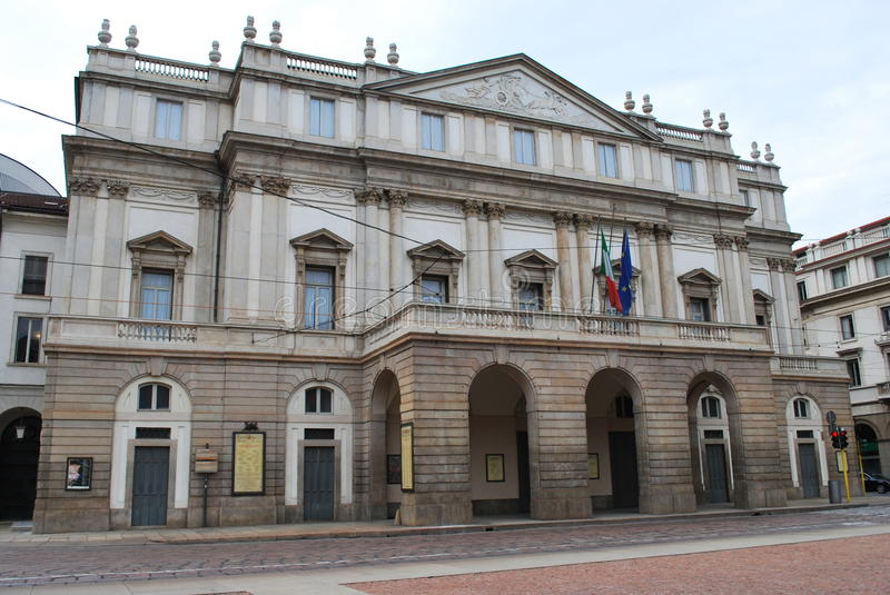 Scala theater in Milan, Italy stock image