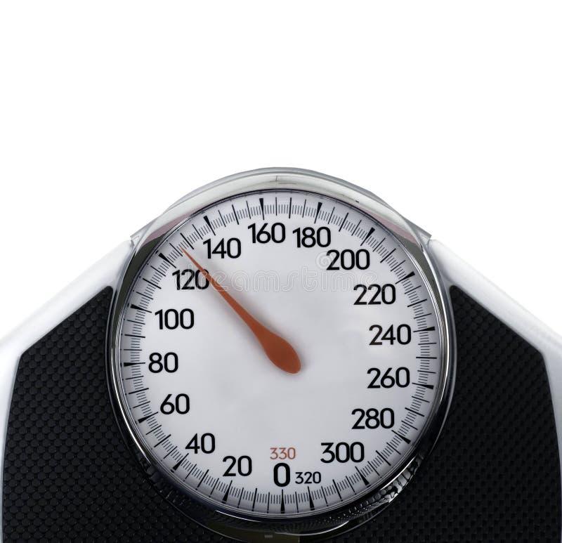 Scala usata per la misurazione del peso corporeo immagini stock libere da diritti