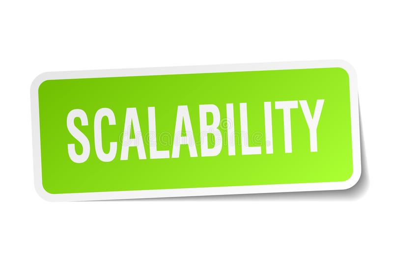 scalability sticker stock illustratie