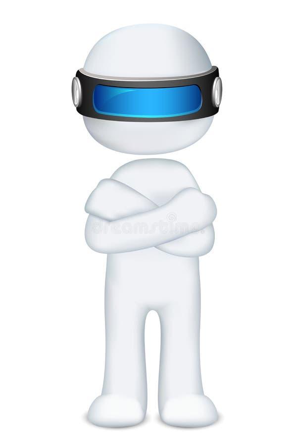 scalable man 3d royaltyfri illustrationer