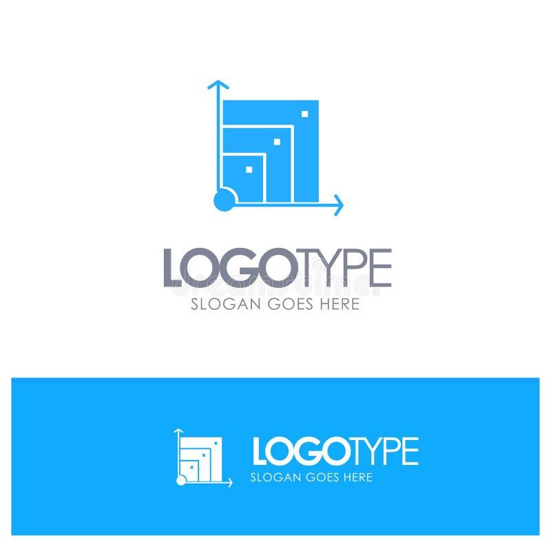 Scalable system, Scalable system, blå fast logo för vetenskap med stället för tagline stock illustrationer