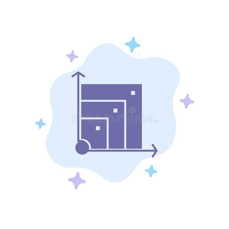 Scalable system, Scalable system, blå symbol för vetenskap på abstrakt molnbakgrund royaltyfri illustrationer