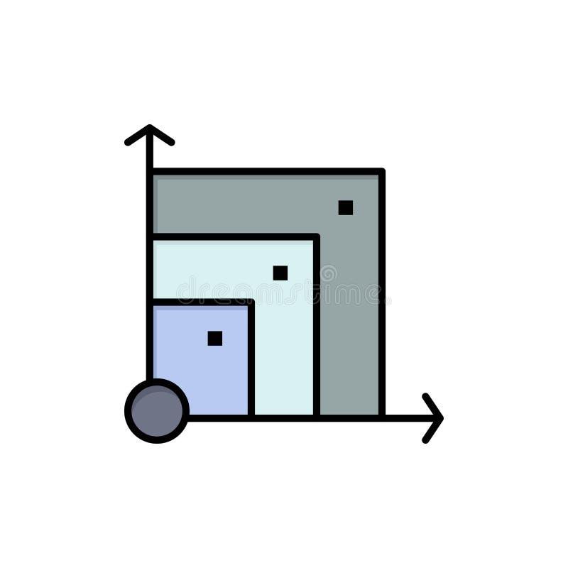 Scalable system, Scalable system, plan färgsymbol för vetenskap Mall för vektorsymbolsbaner royaltyfri illustrationer